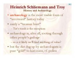 Heinrich Schliemann and Troy