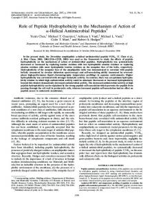 Helical Antimicrobial Peptides - Antimicrobial Agents and Chemotherapy
