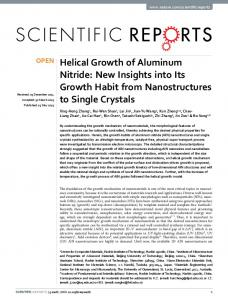 Helical Growth of Aluminum Nitride: New Insights