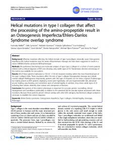 Helical mutations in type I collagen that affect the ... - BioMedSearch