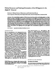 Helical Structure and Packing Orientation of the S2 ... - Semantic Scholar