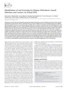 Helicobacter cinaedi - Journal of Clinical Microbiology - American ...