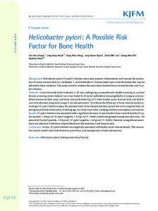 Helicobacter pylori: A Possible Risk Factor for ... - KoreaMed Synapse