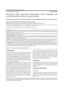 Helicobacter Pylori and CagA: Relationships With ...
