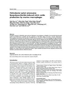 Helicobacter pylori attenuates lipopolysaccharide-induced nitric oxide ...