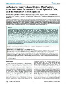 Helicobacter pylori-Induced Histone Modification, Associated ... - PLOS