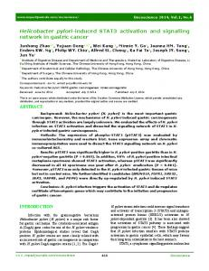 Helicobacter pylori-induced STAT3 activation and