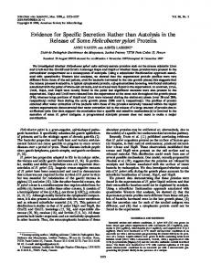 Helicobacter pylori - Infection and Immunity - American Society for ...