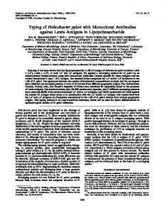 Helicobacter pylori - Journal of Clinical Microbiology - American ...