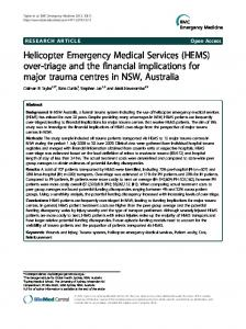 Helicopter Emergency Medical Services (HEMS) over