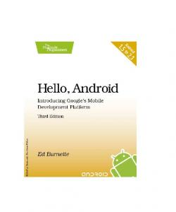 Hello Android,3rd Edition - Leo Labs