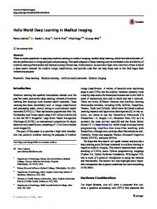 Hello World Deep Learning in Medical Imaging