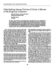 Help Seeking Among Victims of Crime: A Review ... - Semantic Scholar