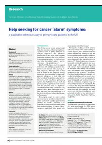 Help seeking for cancer 'alarm' symptoms - Semantic Scholar