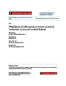 Helpfulness of online product reviews as seen by ...