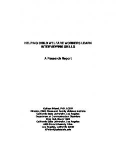 Helping Child welfare Workers Learn Interviewing Skills