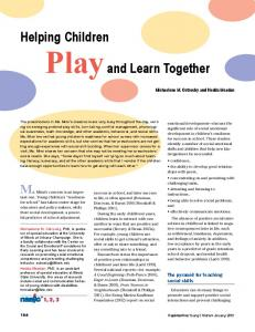 Helping Children Play and Learn Together - Semantic Scholar