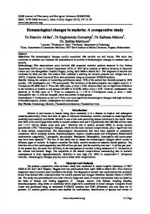 Hematological changes in malaria: A comparative study - IOSR journals