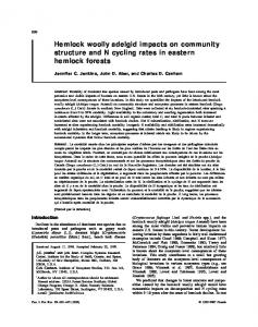 Hemlock woolly adelgid impacts on community structure and N cycling ...