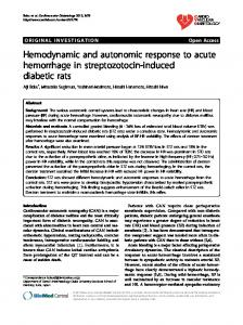 Hemodynamic and autonomic response to acute ... - BioMedSearch