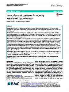 Hemodynamic patterns in obesity associated ... - BMC Obesity