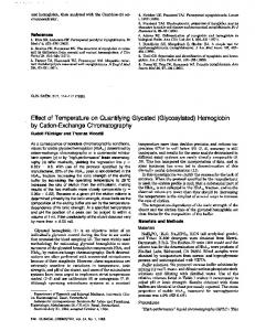 Hemoglobin by Cation-Exchange Chromatography - Clinical Chemistry