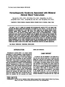 Hemophagocytic Syndrome Associated with Bilateral Adrenal Gland ...