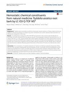 Hemostatic chemical constituents from natural ... - Semantic Scholar