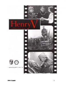 Henry V - Film Education