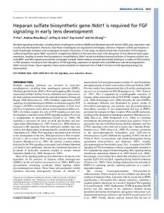 Heparan sulfate biosynthetic gene Ndst1 is required for ... - Development