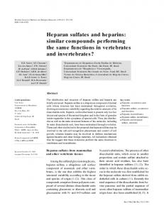 Heparan sulfates and heparins: similar compounds ... - Scielo.br