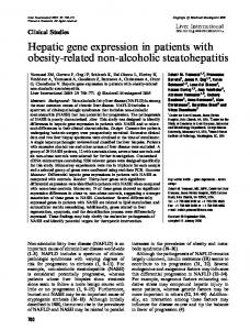 Hepatic gene expression in patients with obesity ...