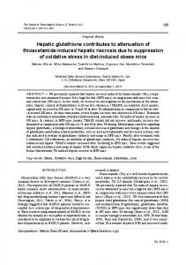 Hepatic glutathione contributes to attenuation of thioacetamide ...
