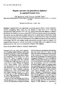 Hepatic necrosis and glutathione depletion in captopril ... - Europe PMC