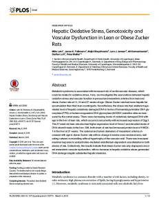 Hepatic Oxidative Stress, Genotoxicity and