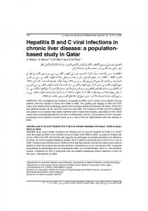 Hepatitis B and C viral infections in chronic liver disease: a population ...