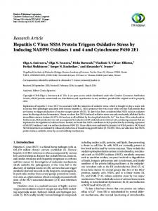 Hepatitis C Virus NS5A Protein Triggers Oxidative Stress by Inducing ...