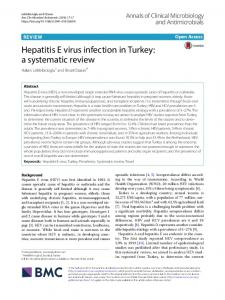 Hepatitis E virus infection in Turkey: a systematic review