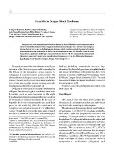 Hepatitis in Dengue Shock Syndrome - Semantic Scholar