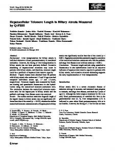Hepatocellular Telomere Length in Biliary Atresia ... - Springer Link