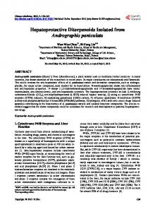 Hepatoprotective Diterpenoids Isolated from Andrographis paniculata