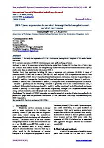 HER-2/neu expression in cervical intraepithelial neoplasia and ...