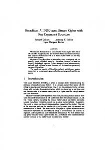 Heraclitus: A LFSR-based Stream Cipher with Key Dependent Structure