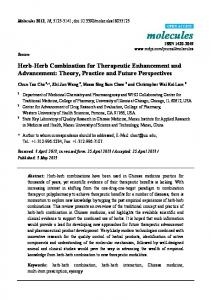Herb-Herb Combination for Therapeutic Enhancement - MDPI