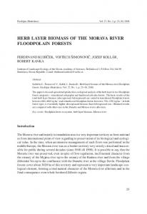 herb layer biomass of the morava river floodpolain forests