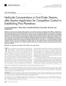 Herbicide Concentrations in First-Order Streams after Routine ...