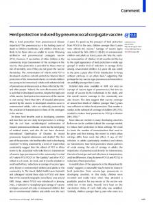 Herd protection induced by pneumococcal conjugate ... - The Lancet
