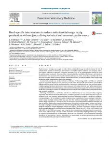 Herd-specific interventions to reduce antimicrobial ...