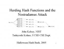 Herding Hash Functions and Nostradamus Attack - National Institute ...