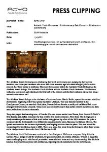 here - Adelaide Youth Orchestras